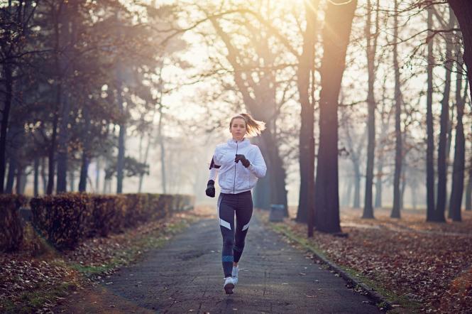 бег, спорт, осень