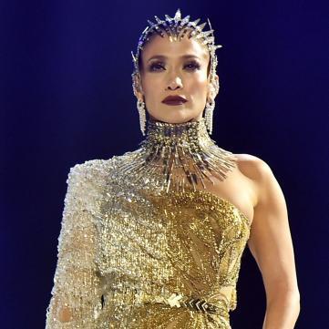 дженніфер лопес у золотій сукні