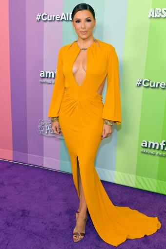 Ева Лонгория в желтом платье