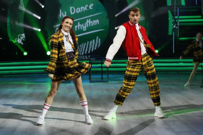 Анна Ризатдинова и Александр Прохоров на Танцах со звездами