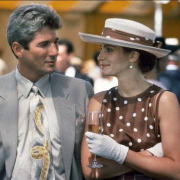 Кадр із фільму Красуня з Джулією Робертс і Річардом Гіром.