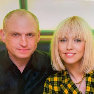 Оля Полякова с мужем