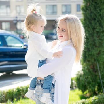 Лилия Ребрик с дочкой Полиной