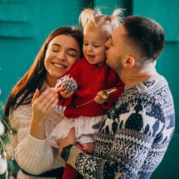семья, новый год, подарки