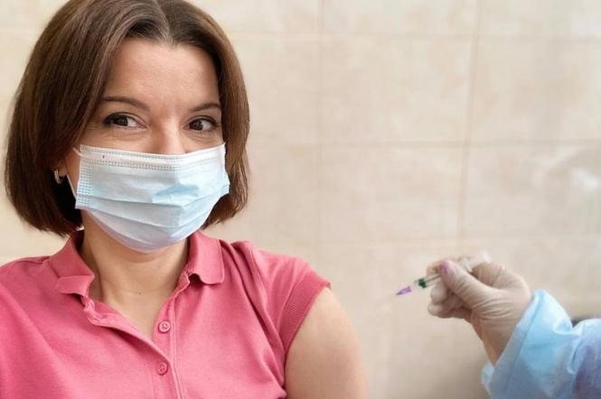 Марічка Падалко, ведуча ТСН на 1+1, вакцинувалася