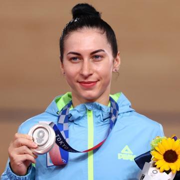 велосипедистка Елена Старикова