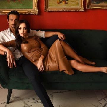 Екатерина Кухар с мужем
