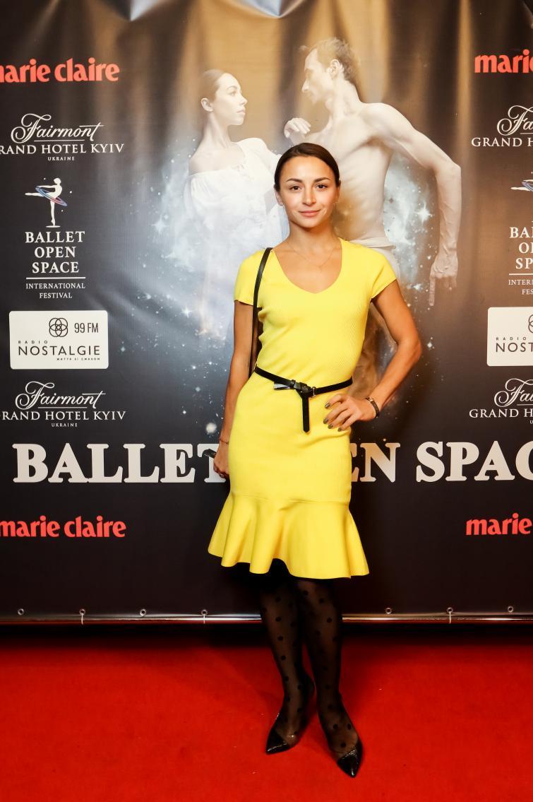 Ілона Гвоздьова на відкритті BALLET OPEN SPACE