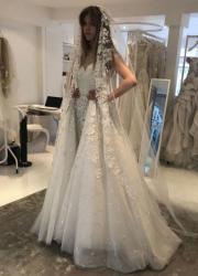 Катя Гуменюк у весільному вбранні